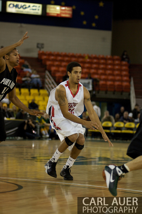 November 29th, 2008:  Anchorage, Alaska - Seattle University guard Drew Harris (31) drives against the Portland State defense in the third place game on the final day of the Great Alaska Shootout.