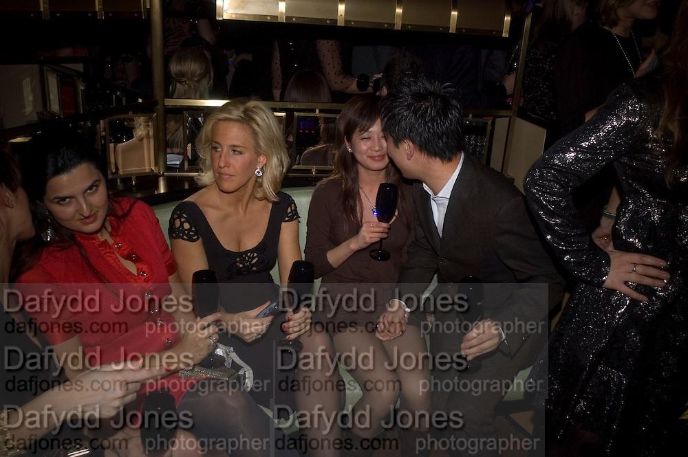 Vanessa Miedler, Dom Perignon and Claudia Schiffer host a celebration of Dom Perignon Oenotheque 1995. The Landau, Portland Place. London W1. 26 February 2008.  *** Local Caption *** -DO NOT ARCHIVE-© Copyright Photograph by Dafydd Jones. 248 Clapham Rd. London SW9 0PZ. Tel 0207 820 0771. www.dafjones.com.