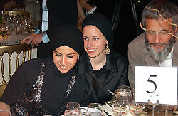 ASMAN & AMINAH ISLAM daughters of Yusuf Islam former known as Cat Stevens at the Fortune Forum Dinner held at Old Billingsgate, 1 Old Billingsgate Walk, 16 Lower Thames Street, London EC3R 6DX<br /><br />NON EXCLUSIVE - WORLD RIGHTS