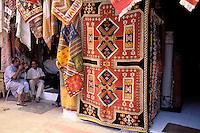Carpet souk in the Rue des Consuls - Old Medina - Rabat - Morocco