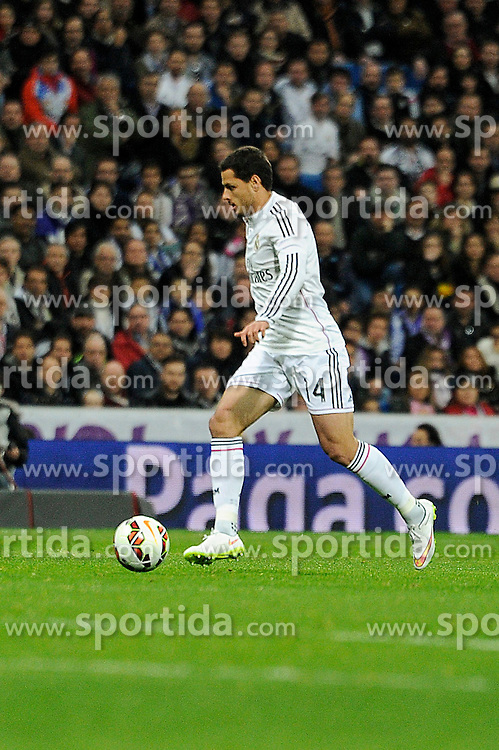 01.03.2015, Estadio Santiago Bernabeu, Madrid, ESP, Primera Division, Real Madrid vs FC Villarreal, 25. Runde, im Bild Real Madrid&acute;s Chicharito // during the Spanish Primera Division 25th round match between Real Madrid CF and Villarreal at the Estadio Santiago Bernabeu in Madrid, Spain on 2015/03/01. EXPA Pictures &copy; 2015, PhotoCredit: EXPA/ Alterphotos/ Luis Fernandez<br /> <br /> *****ATTENTION - OUT of ESP, SUI*****
