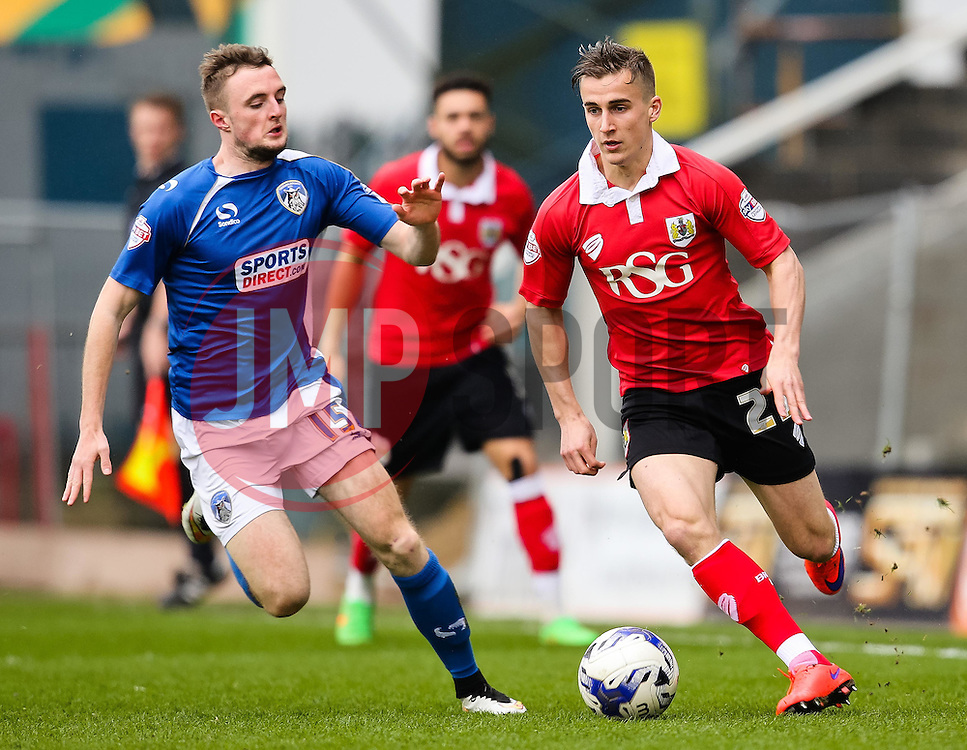 Bristol City's Joe Bryan attacks - Photo mandatory by-line: Matt McNulty/JMP - Mobile: 07966 386802 - 03/04/2015 - SPORT - Football - Oldham - Boundary Park - Oldham Athletic v Bristol City - Sky Bet League One