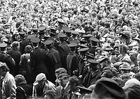 974-22<br /> Crowds and Gardai at the All-Ireland Hurling Final at Croke Park. Limerick v Kilkenny. September 1974<br /> (Part of the Independent Newspapers Ireland/NLI collection.)