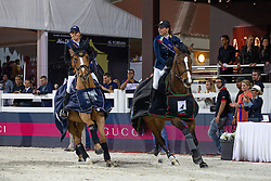 Alexander Edwina (AUS) - Offel Katharina (UKR)<br /> Final Global Champions Tour - Abu Dhabi 2012<br /> © Hippo Foto - Cindy Voss