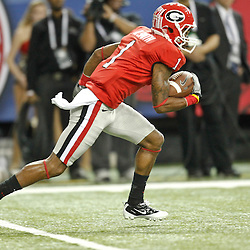 Dec 3, 2011; Atlanta, GA, USA; Georgia Bulldogs cornerback Branden Smith (1) during the first half of the 2011 SEC championship game at the Georgia Dome.  Mandatory Credit: Derick E. Hingle-US PRESSWIRE