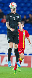 CARDIFF, WALES - Wednesday, August 14, 2013: Republic of Ireland's Andy Keogh in action against Wales during an International Friendly at the Cardiff City Stadium. (Pic by David Rawcliffe/Propaganda)