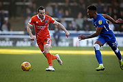 Shrewsbury Town midfielder Shaun Whalley (7) on the ball during the EFL Sky Bet League 1 match between Peterborough United and Shrewsbury Town at London Road, Peterborough, England on 23 February 2019.