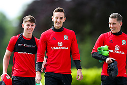 Uncapped duo Ben Woodburn (Liverpool) and Tom Lockyer (Bristol Rovers) are joined by Wales' youngest ever International Harry Wilson (Liverpool) as Wales train ahead of their World Cup Qualifier against Serbia - Rogan Thomson/JMP - 07/06/2017 - Vale Resort - Hensol, Wales - Wales Football Training.
