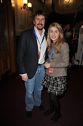 MARK STEWART and his daughter LEONA at the opening night of Totem by Cirque du Soleil held at The Royal Albert Hall, London on 5th January 2011.