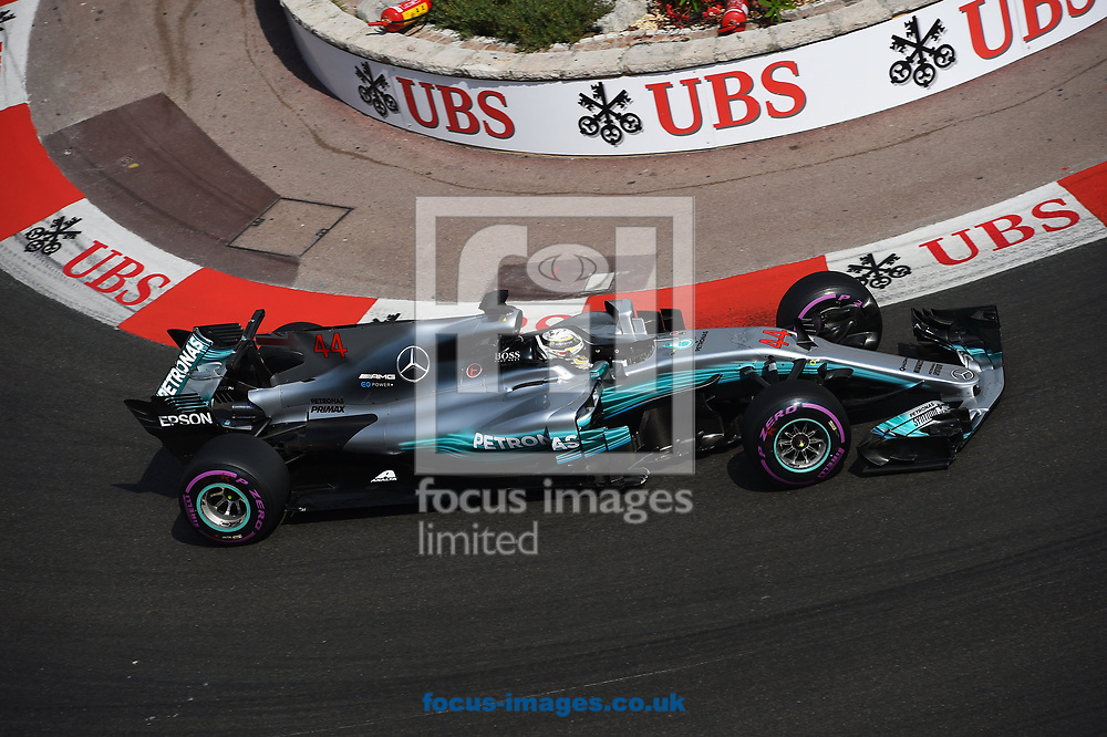 Lewis Hamilton of Mercedes AMG Petronas during the practice session for the 2017 Monaco Formula One Grand Prix at the Circuit de Monaco, Monte Carlo<br /> Picture by EXPA Pictures/Focus Images Ltd 07814482222<br /> 25/05/2017<br /> *** UK &amp; IRELAND ONLY ***<br /> <br /> EXPA-EIB-170525-0163.jpg