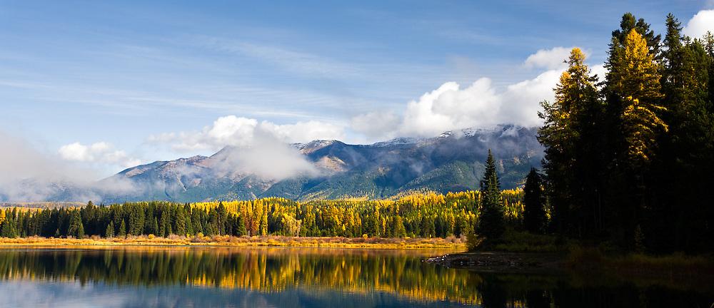 Fall morning on Rainy Lake,Montana.