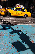 New York  yellow cab in Times square,    United states  Manhattan