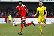 Crawley Town forward Panutche Camara (28) during the EFL Sky Bet League 2 match between Crawley Town and Cheltenham Town at the Checkatrade.com Stadium, Crawley, England on 24 March 2018. Picture by Andy Walter.