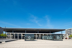 View of deserted Berlin Brandenburg Willy<br />  Brandt Airport Terminal uncompleted and 7 years behind schedule in Berlin Germany