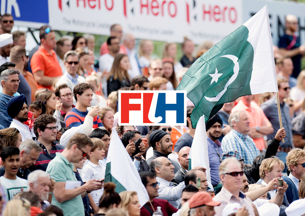 BREDA - Rabobank Hockey Champions Trophy<br /> India - Pakistan<br /> Photo: Pakistani flags.<br /> COPYRIGHT WORLDSPORTPICS FRANK UIJLENBROEK