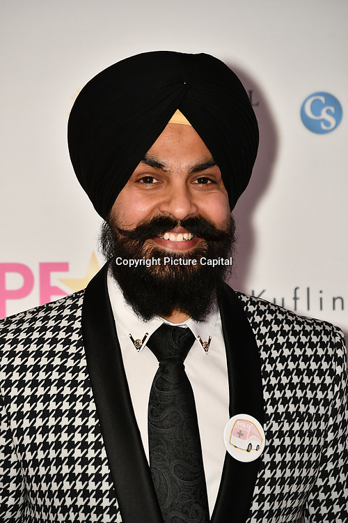 Presenter of Roko Cancer attend the BritAsiaTV Presents Kuflink Punjabi Film Awards 2019 at Grosvenor House, Park Lane, London,United Kingdom. 30 March 2019