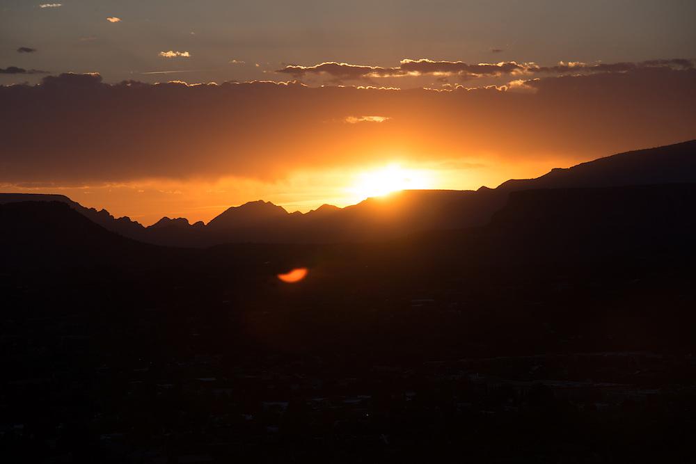 Sedona Mountain Sunset<br /> Airport Vortex<br /> Sedona Arizona