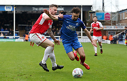 Gwion Edwards of Peterborough United in action with Ashley Eastham of Fleetwood Town - Mandatory by-line: Joe Dent/JMP - 28/04/2018 - FOOTBALL - ABAX Stadium - Peterborough, England - Peterborough United v Fleetwood Town - Sky Bet League One