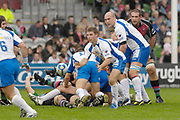 Twickenham. Great Britain,Montpelliers Harley CRANE, distributes the ball from the back of the scrum, during the, European Challenge Cup, match between, NEC Harlequins and Montpellier, on Sat., 28/10/2006, played at the Twickenham Stoop, England. Photo, Peter Spurrier/Intersport-images]......