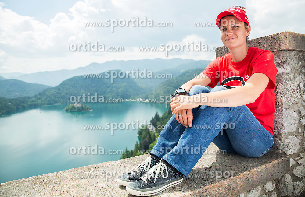 Teja Gregorin, biathlon during Sponsorship event for athletes sponsored by Petrol ®,  on June 3, 2015 in Bled's Castle,  Slovenia. Photo by Vid Ponikvar / Sportida