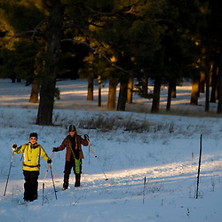 010711      Brian LeddyCross-country skiing the Zuni Mountains of western New Mexico