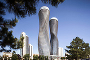 Iconic Buildings Project. The Absolute Towers, aka Marilyn Monroe Towers, in Mississauga.