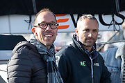 Yohan Diniz and Fabrice Amédéo (Imoca Newrest - Arts et Fenêtres) during the Route du Rhum 2018, on November 3rd, in Saint Malo, France, before the Route du Rhum sailing race to start on November 4th 2018 - Photo Olivier Blanchet / ProSportsImages / DPPI