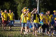 LUBLIN, POLEN 2017-06-19<br /> Svenska fans inf&ouml;r UEFA U21 matchen mellan Polen och Sverige den 19 juni p&aring; Arena Lublin, Polen.<br /> Foto: Nils Petter Nilsson/Ombrello<br /> Fri anv&auml;ndning f&ouml;r kunder som k&ouml;pt U21-paketet.<br /> Annars Betalbild.<br /> ***BETALBILD***