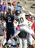 Samford running back Fabian Truss (2) goes for the ball along with Appalachian State defensive back Demetrious McCray (10) at Seibert Stadium in Homewood, Ala., Saturday, Oct 13, 2012. (Marvin Gentry)