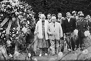 1959; Madame Eleanor Roosevelt walking along side Nikita Khrushchev visiting  the tomb of President Franklin Delano Roosevelt.<br /> <br /> 1959 ; Mme Eleanor Roosevelt marchant le long du c&ocirc;t&eacute; Nikita Khrouchtchev visiter la tombe du pr&eacute;sident Franklin Delano Roosevelt .