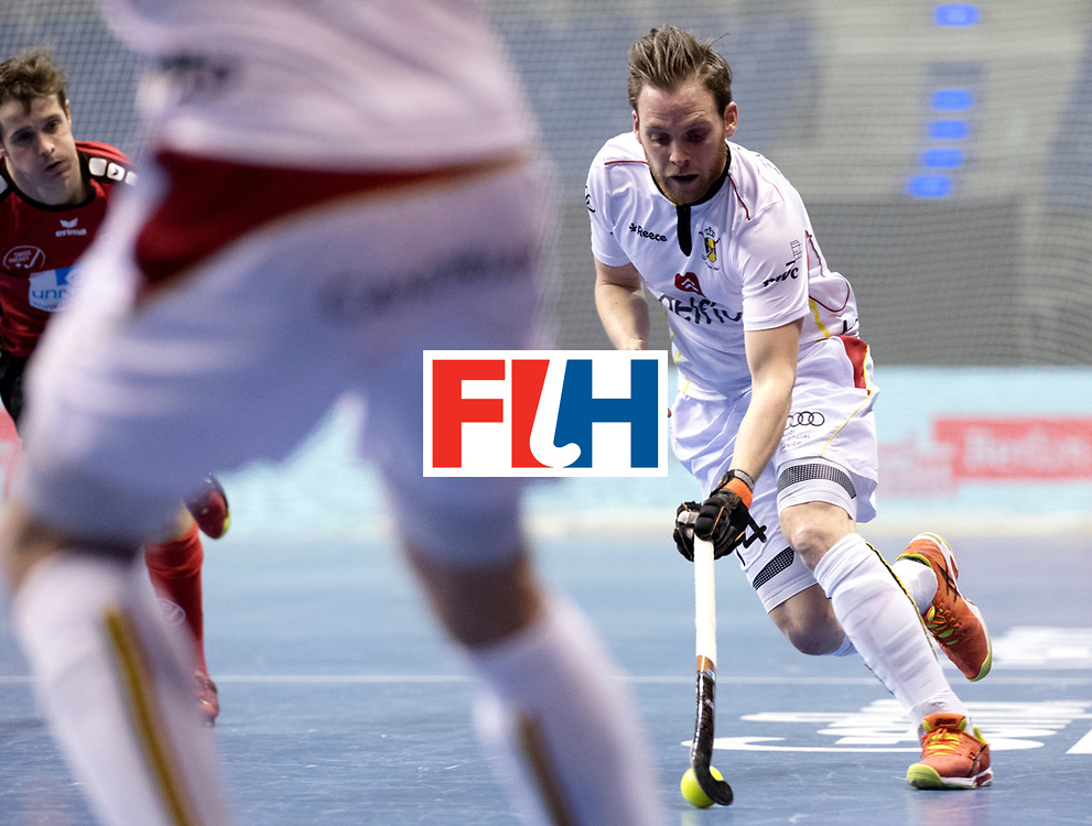 BERLIN - Indoor Hockey World Cup<br /> Men: Switzerland - Belgium<br /> foto: <br /> WORLDSPORTPICS COPYRIGHT FRANK UIJLENBROEK