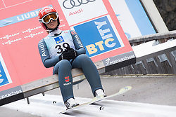 February 8, 2019 - Ljubno, Savinjska, Slovenia - Katharina Althaus of Germany on first competition day of the FIS Ski Jumping World Cup Ladies Ljubno on February 8, 2019 in Ljubno, Slovenia. (Credit Image: © Rok Rakun/Pacific Press via ZUMA Wire)
