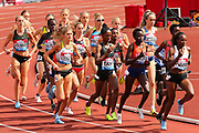 The large field in the Women's 1500m during the Muller Grand Prix at Alexander Stadium, Birmingham, United Kingdom on 18 August 2018. Picture by Ian Stephen.