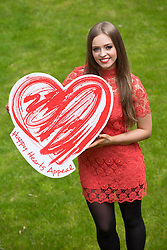 Repro Free: Dublin <br /> Children&rsquo;s TV presenter Diana Bunici puts her heart on her sleeve as she asked you to support the Irish Heart fpoundation's Happy Hearts Appeal supported by SuperValu. The Happy Hearts Appeal is celebrating its 25th year of fundraising to fight heart disease and stroke and running until Saturday, 17th May. Over the three days, more than 3,000 volunteers together with SuperValu stores, will be selling happy heart badges for &euro;2 to raise funds to save lives from sudden cardiac arrest and help the Irish Heart Foundation reach it&rsquo;s &euro;500,000 target to deliver a new national CPR education campaign later this autumn. www.happyhearts.ie Picture Andres Poveda<br />  <br /> <br /> For more information contact Caroline Cullen, Communications Manager, Irish Heart Foundation, DL: 01-6346908, Mob: 086-6049282.