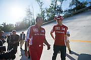 September 3-5, 2015 - Italian Grand Prix at Monza: Sebastian Vettel (GER), Ferrari, Maurizio Arrivabene, team principal of Scuderia Ferrari