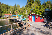 God's Pocket Dive Resort in God's Pocket Provincial Park offshore Vancouver Island, British Columbia, Canada.