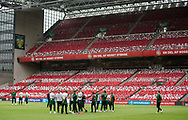 FOOTBALL: The players of Ireland inspecting the pitch before the EURO 2020 Qualifier match between Denmark and Ireland at Parken Stadium on June 7, 2019 in Copenhagen, Denmark. Photo by: Claus Birch / ClausBirchDK.