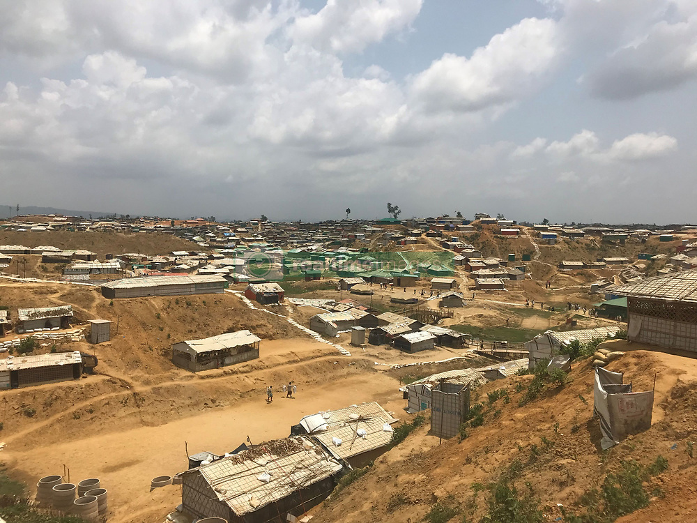 "A general view of Balukhali camp in CoxÕs Bazar, southern Bangladesh. British aid workers fear they may be cut off from supporting hundreds of thousands of Rohingya refugees once the monsoon season hits the country, after a few hours of rain ""completely transformed"" parts of the camps."