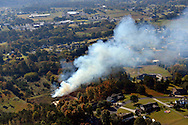 Brush burning in rural Tennessee