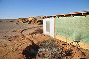 Waste water is used for irrigation at the ecological village of Tzukim Israel, Aravah, All construction material are environmental friendly such as wood and mud. waste water and garbage are reused for irrigation and compost