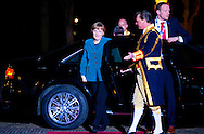 24-3-2014 THE HAGUE  - Arrival of Angela Merkel  for the NSS summit  diner at the Palace Huis ten Bosch . COPYRIGHT ROBIN UTRECHT