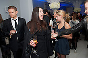 KATE MAGOWAN;  English National Ballet's party before performance of the ' The Nutcracker. St. Martin's Lane Hotel. London 14 December 2011.