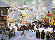 Boris Kustodiev (1878–1927) Russian painter. Maslenitsa, 1919. Oil on canvas