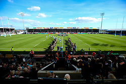 Worcester Warriors run out at Sandy Park - Mandatory by-line: Robbie Stephenson/JMP - 29/09/2018 - RUGBY - Sandy Park Stadium - Exeter, England - Exeter Chiefs v Worcester Warriors - Gallagher Premiership Rugby