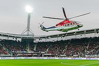 ALKMAAR - 02-04-2016, AZ - PSV, AFAS Stadion, 2-4, 8 AZ fans per helikopter naar de wedstrijd, stadion bestaat 10 jaar, AFAS bestaat 20 jaar.