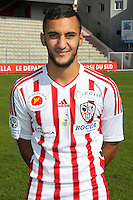 Ilyes Chaibi during the photocall of Ac Ajaccio for new season on October 17th 2016<br /> Photo : Jean Pierre Belzit / Icon Sport