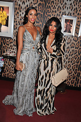 Left to right, ROCHELLE WISEMAN and VANESSA WHITE at a party hosted by Roberto Cavalli to celebrate his new Boutique's opening at 22 Sloane Street, London followed by a party at Battersea Power Station, London SW8 on 17th September 2011.