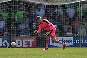 Forest Green Rovers goalkeeper Bradley Collins(1) during the EFL Sky Bet League 2 match between Forest Green Rovers and Grimsby Town FC at the New Lawn, Forest Green, United Kingdom on 5 May 2018. Picture by Shane Healey.