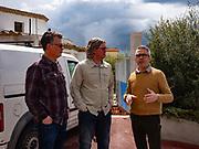 At Argiolas, Beppe Pinna with Jarad & Keith