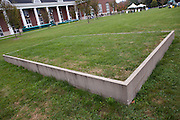 """Input"" by Maya Lin at Bicentennial Park at Ohio University on October 12, 2013."